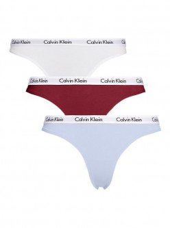 PACK 3 TANGAS CALVIN KLEIN GRANATE /AZUL/BLANCO